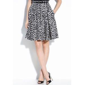 Kate Spade   Lillith Leopard Print Silk Skirt   6